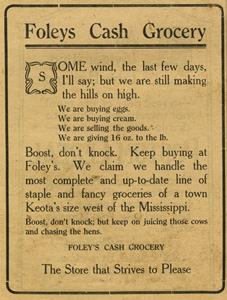 EDU.002  Box 3 Piece 2 Keota0439 Foleys Cash Grocery March 26, 1920.jpg