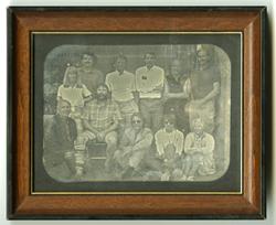 Contemporary daguerreotype group portrait
