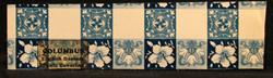 Columbus Table Cover Sample, 1926--Blue English Damask